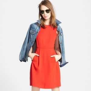 Madewell Red Abroad Fit and Flare mini dress, S